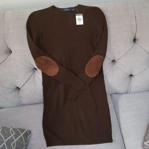 Polo by Ralph Lauren Brown Sweater Dress